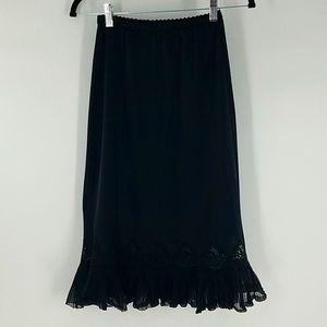 Vintage Rogers Nylon Tricot Lace Trimmed Half Slip